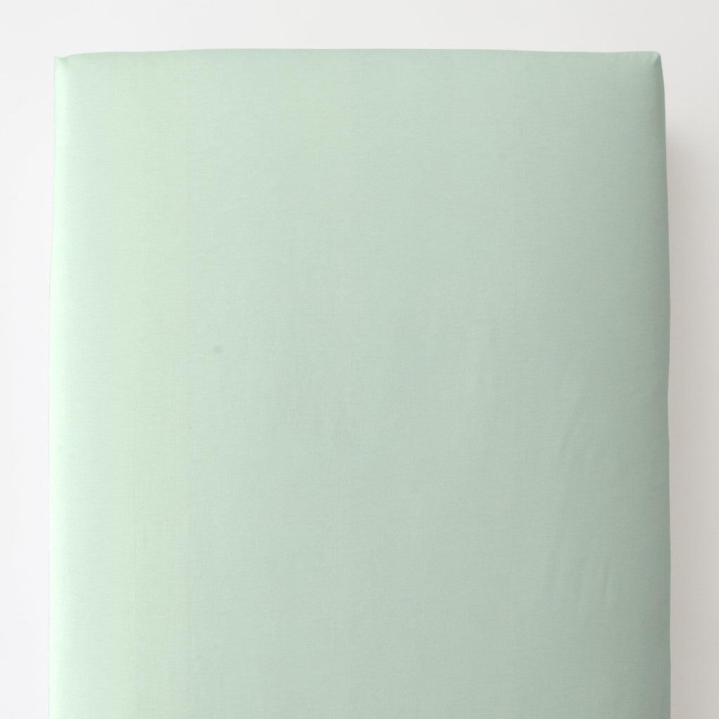 Product image for Solid Icy Mint Toddler Sheet Bottom Fitted