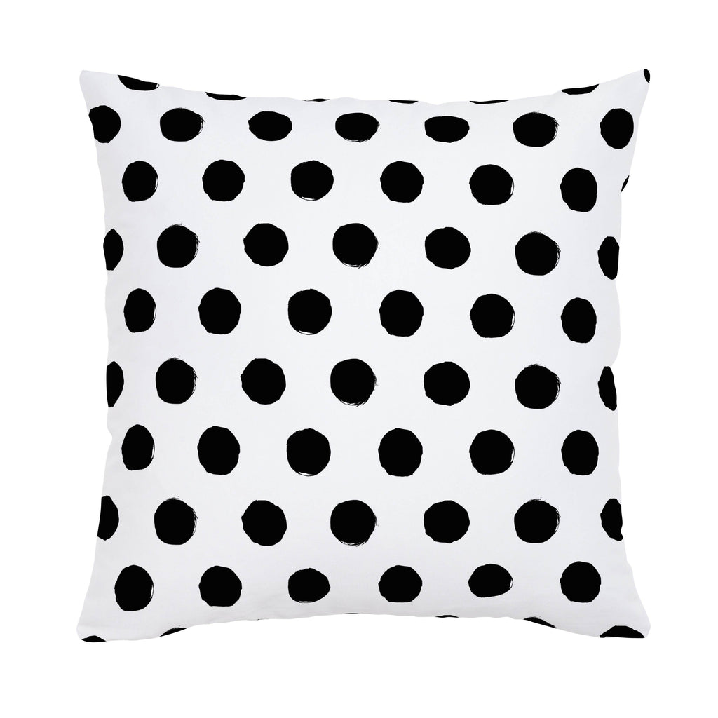 Product image for Onyx Brush Dots Throw Pillow