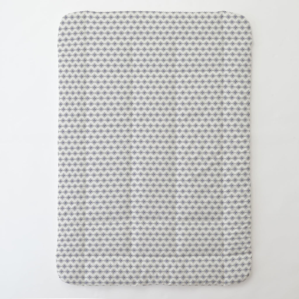 Product image for Gray and Navy Diamond Dot Toddler Comforter