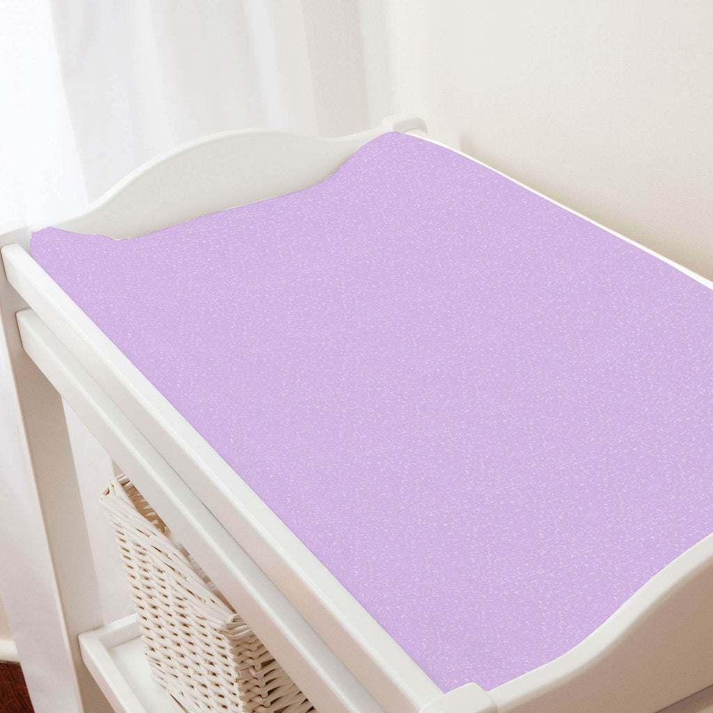 Product image for Pastel Purple Heather Changing Pad Cover