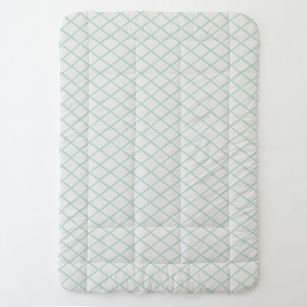 Product image for Icy Mint Trellis Toddler Comforter
