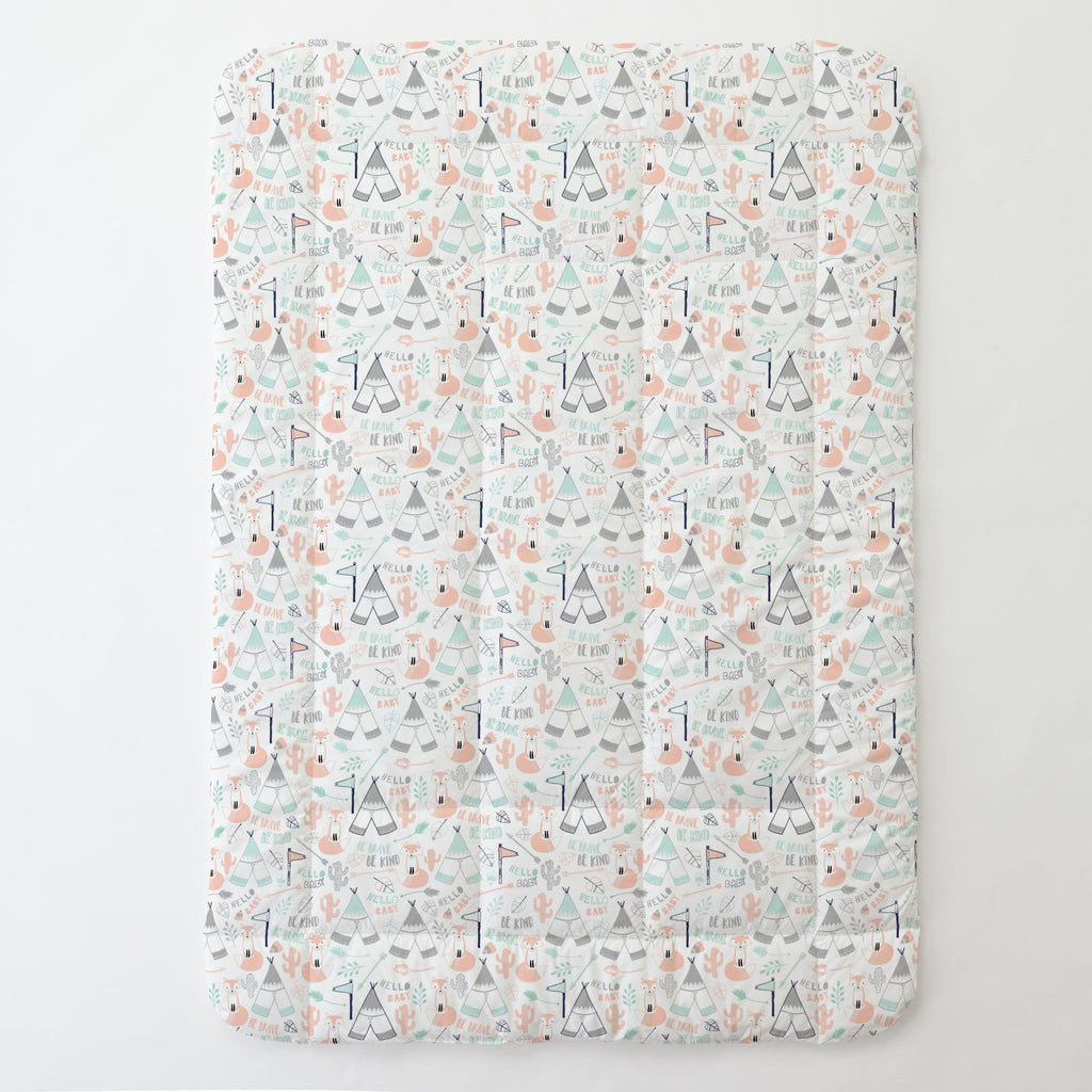 Product image for Peach Brave Fox Toddler Comforter