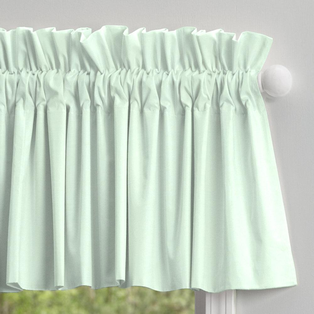 Product image for Solid Icy Mint Window Valance