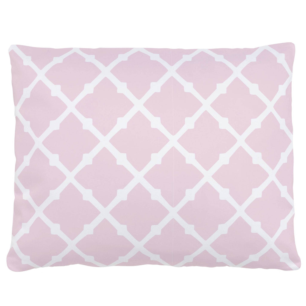 Product image for Pink Lattice Accent Pillow