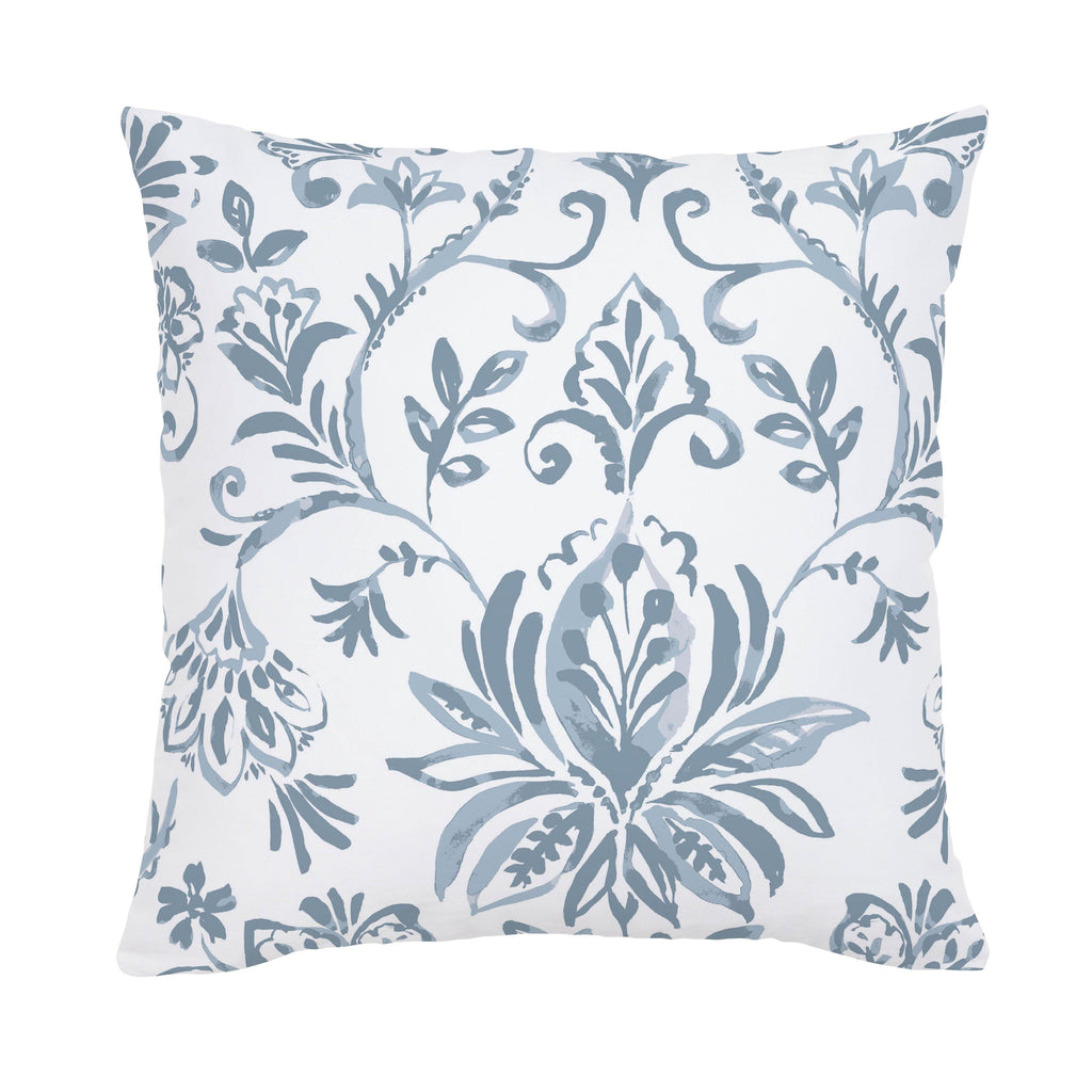 Product image for Steel Blue Coastal Damask Throw Pillow