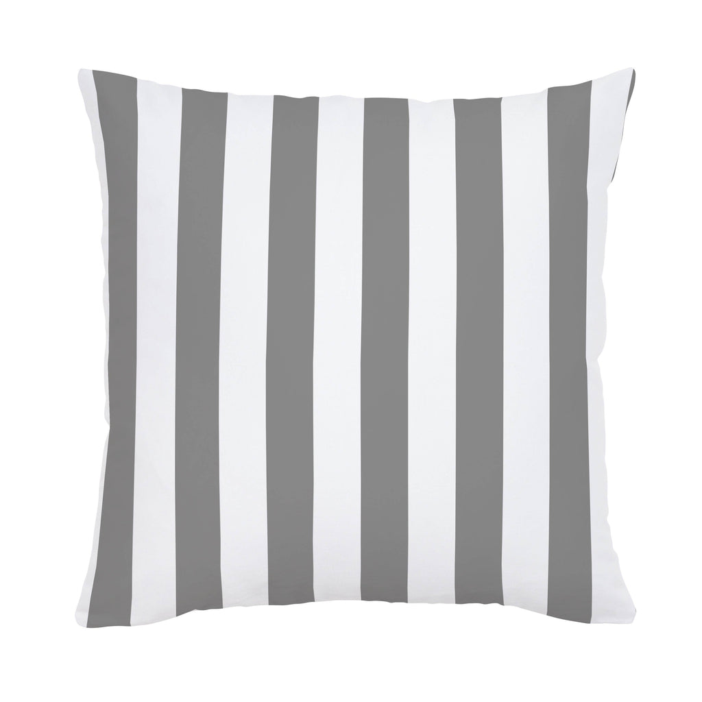 Product image for White and Gray Stripe Throw Pillow