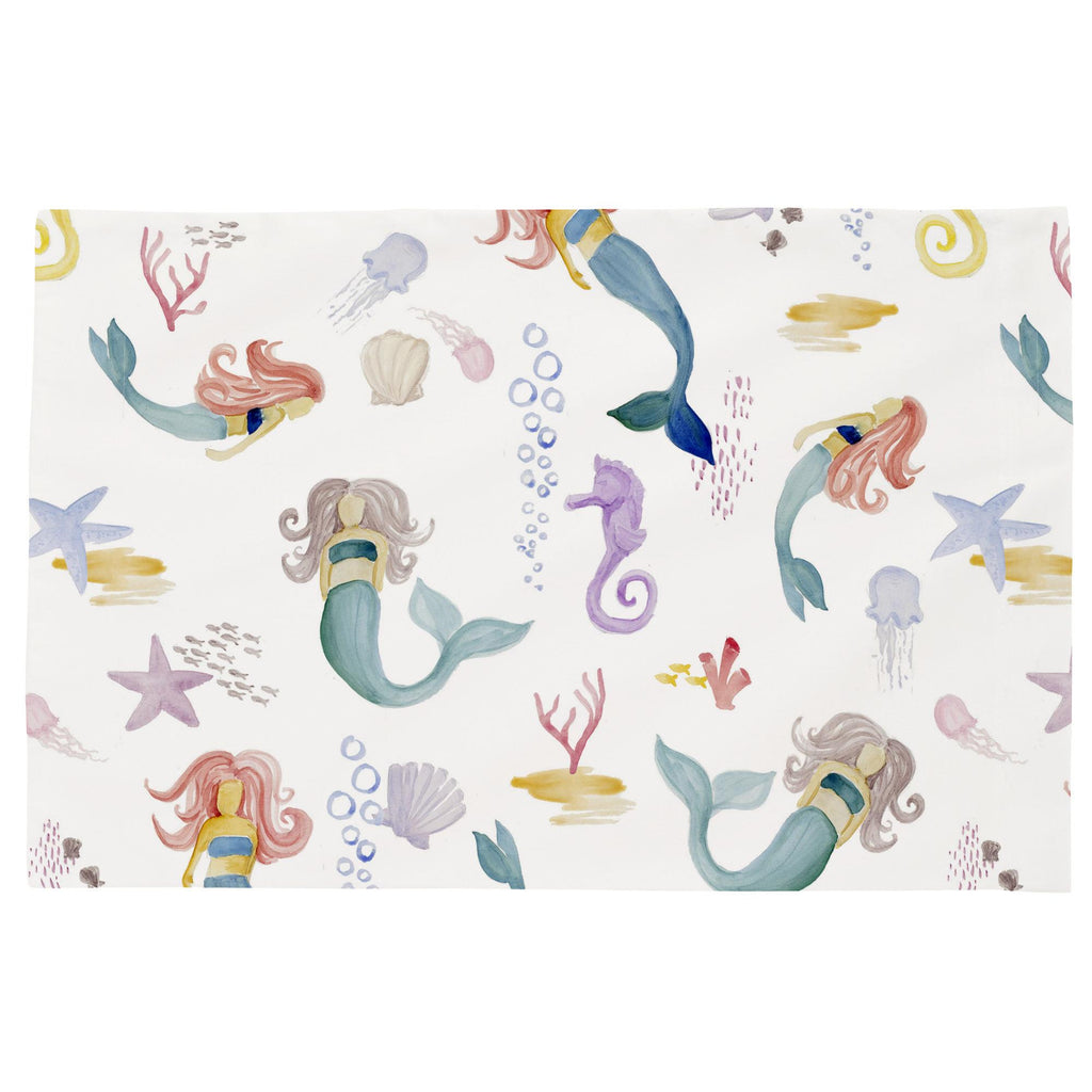 Product image for Watercolor Mermaids Toddler Pillow Case