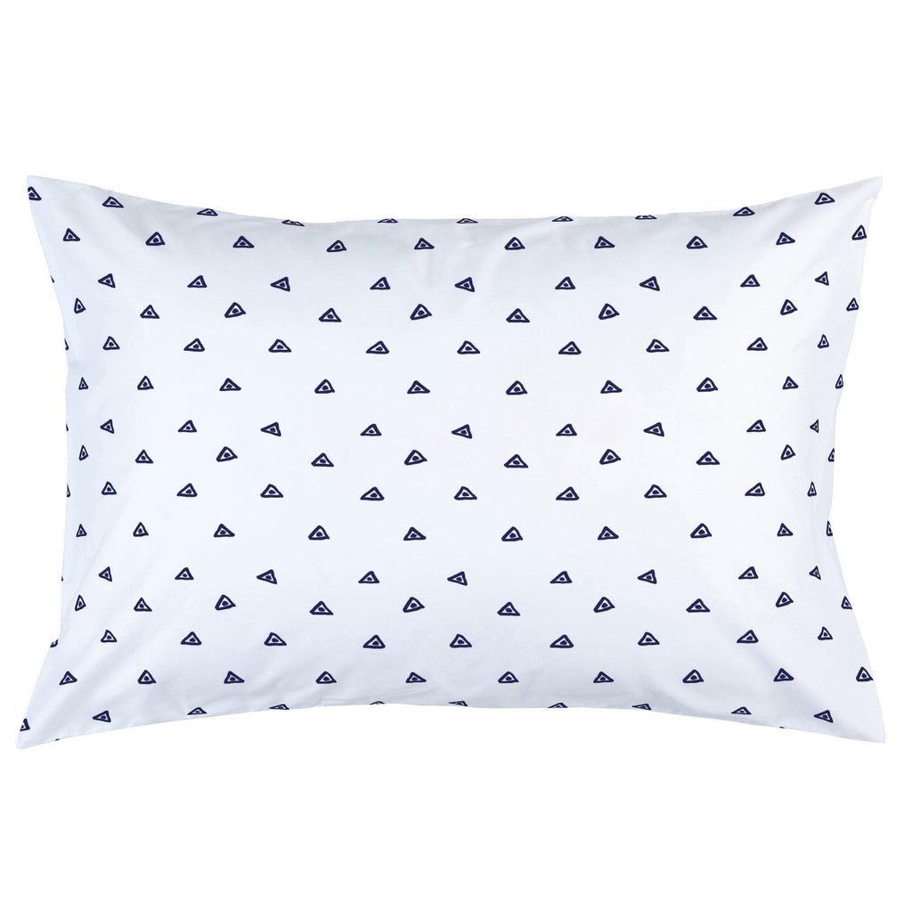 Product image for Navy Triangle Dots Pillow Case