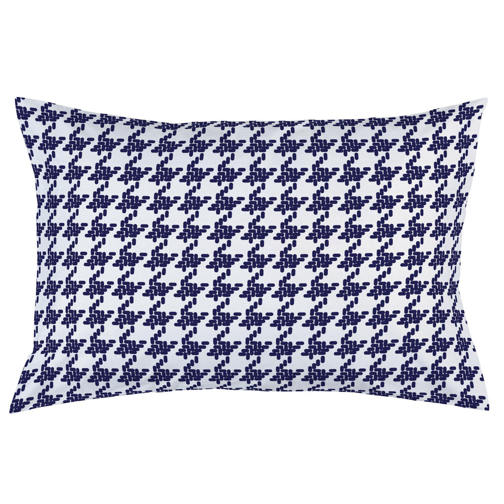 Product image for Windsor Navy Modern Houndstooth Pillow Case