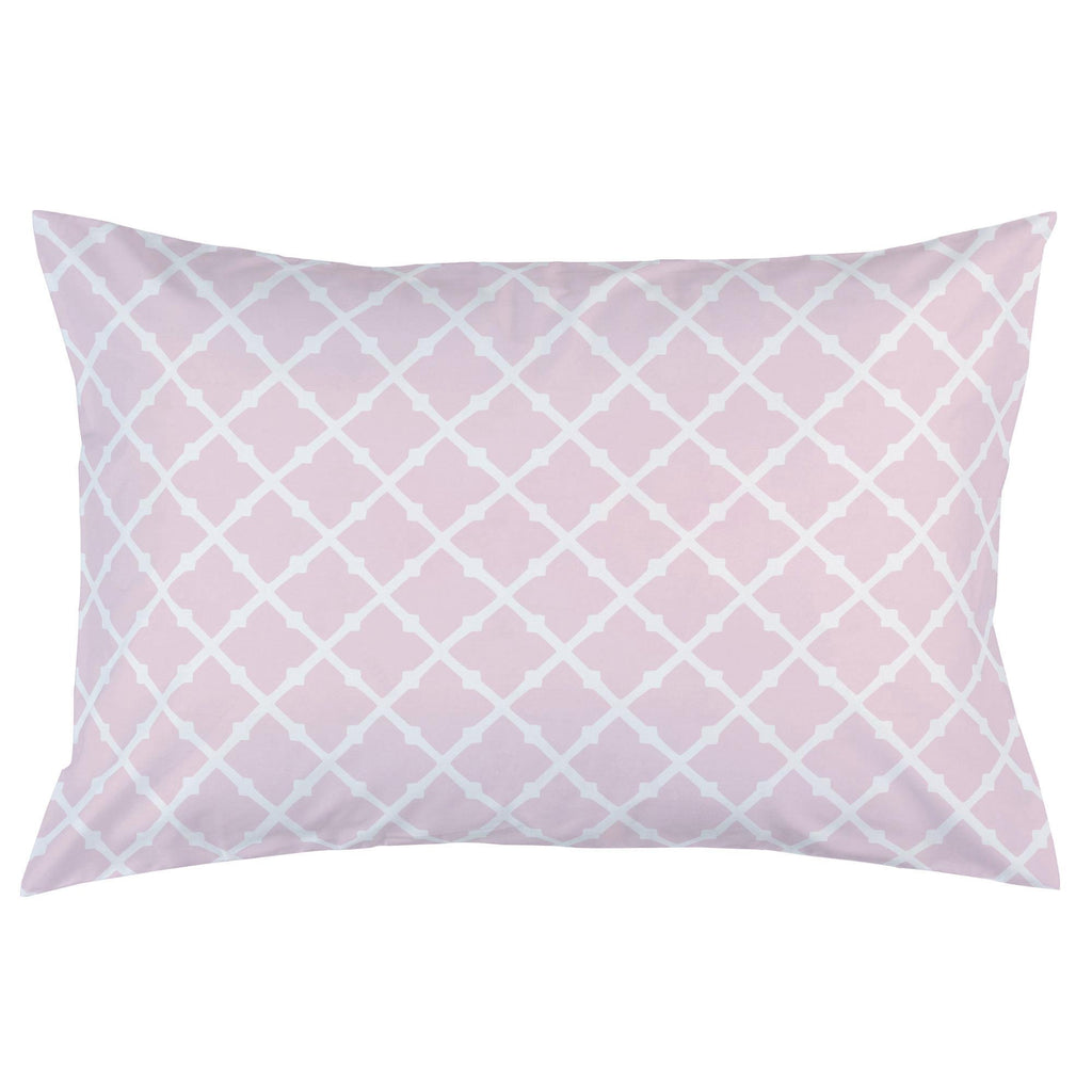 Product image for Pink Lattice Pillow Case