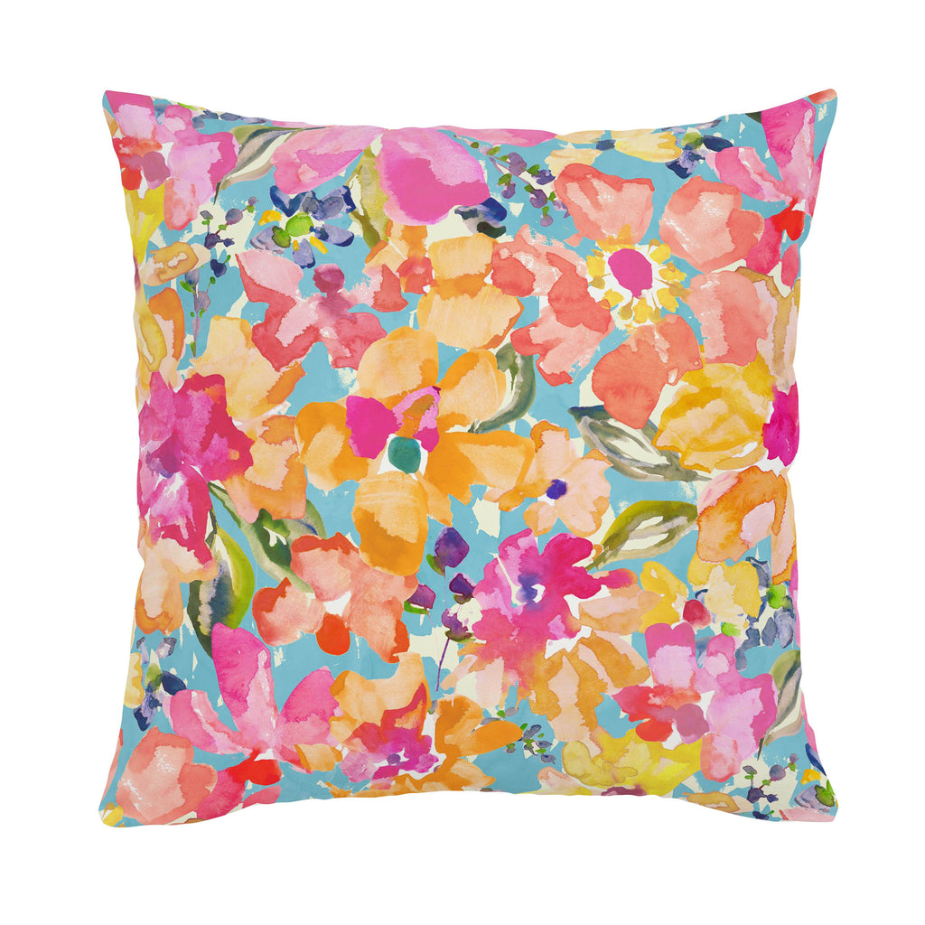 Product image for Coral Flower Bouquet Throw Pillow