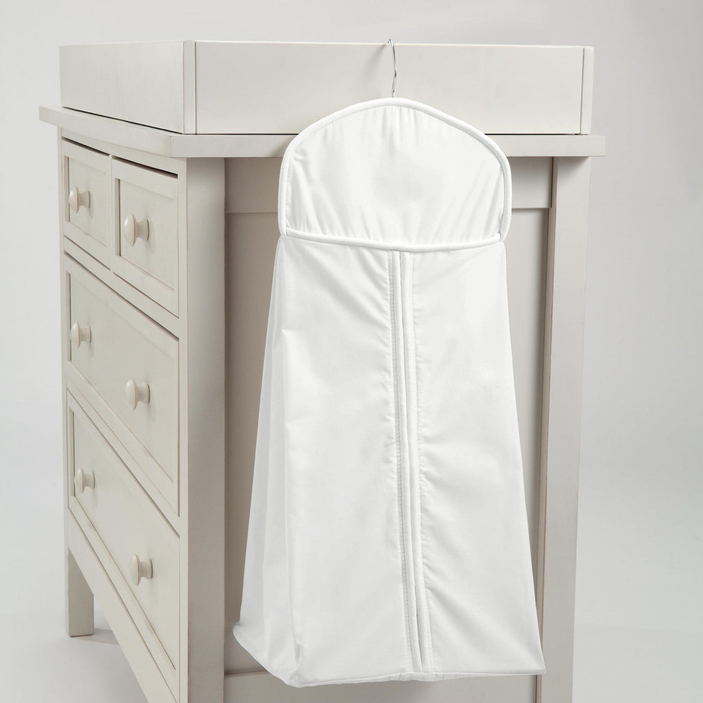 Product image for Solid Antique White Diaper Stacker