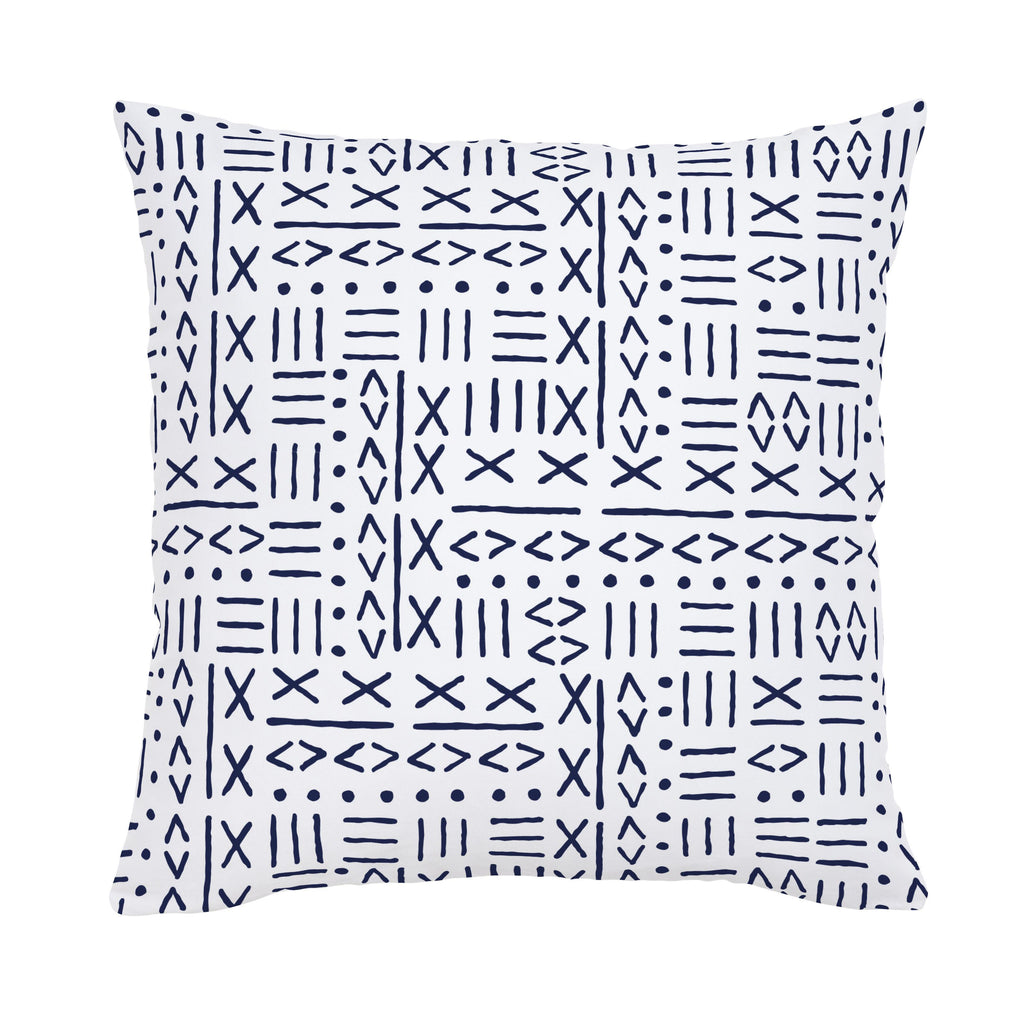 Product image for Navy Mudcloth Throw Pillow
