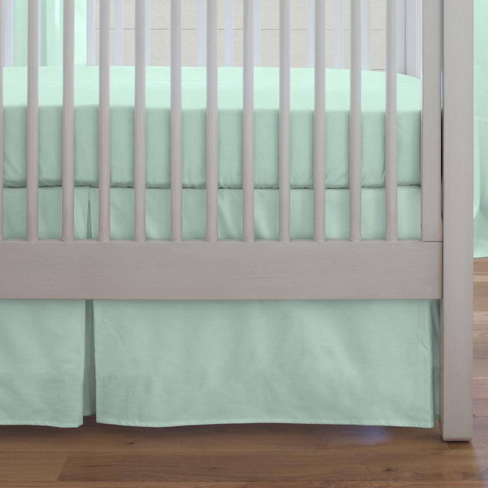 Product image for Solid Mint Crib Skirt