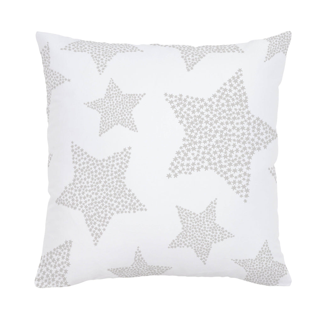 Product image for French Gray Galaxy Stars Throw Pillow