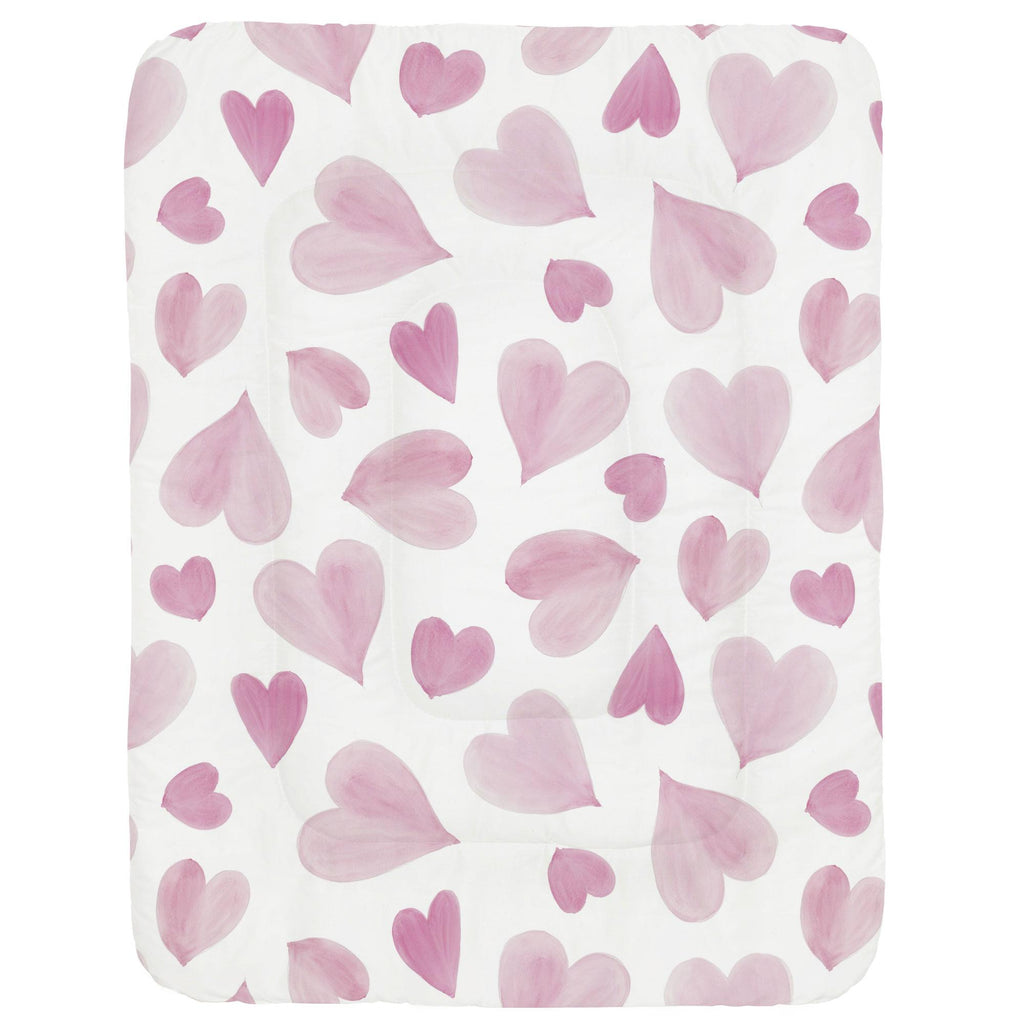 Product image for Pink Watercolor Hearts Crib Comforter