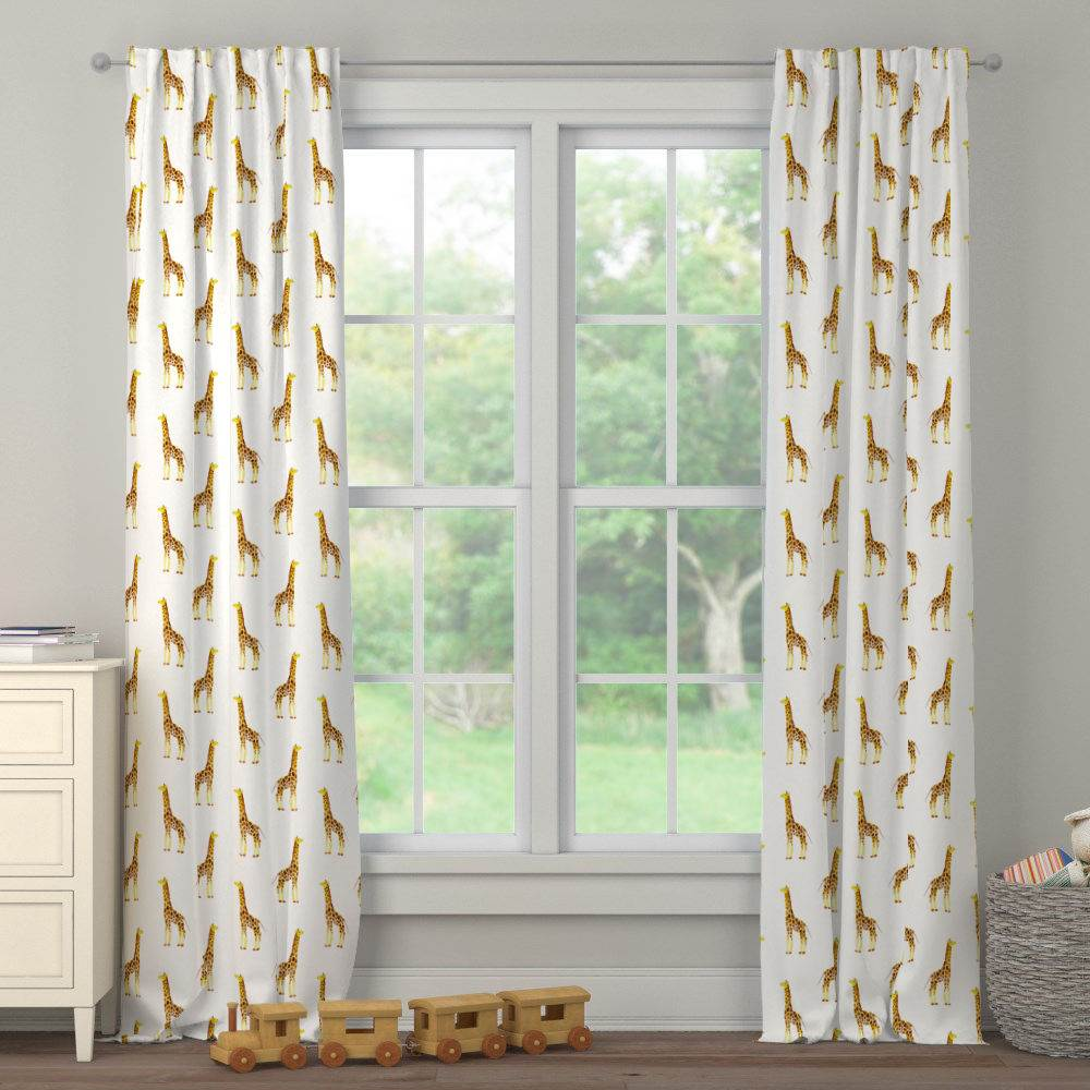 Product image for Painted Giraffe Drape Panel