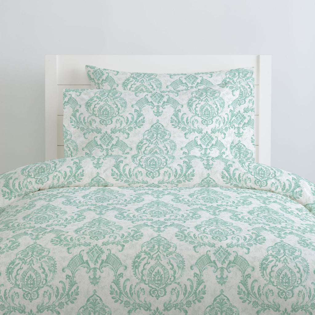 Product image for Mint Painted Damask Duvet Cover