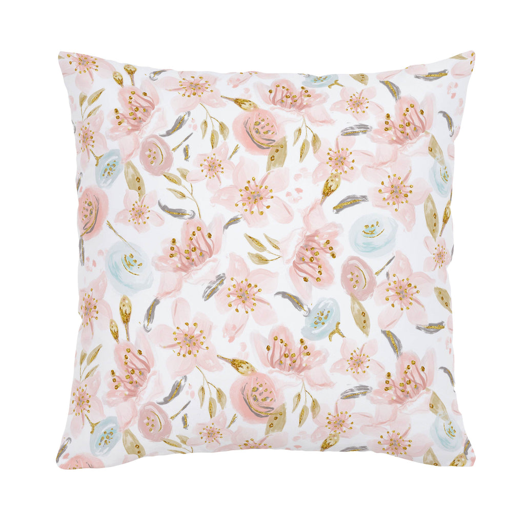 Product image for Pink Hawaiian Floral Throw Pillow