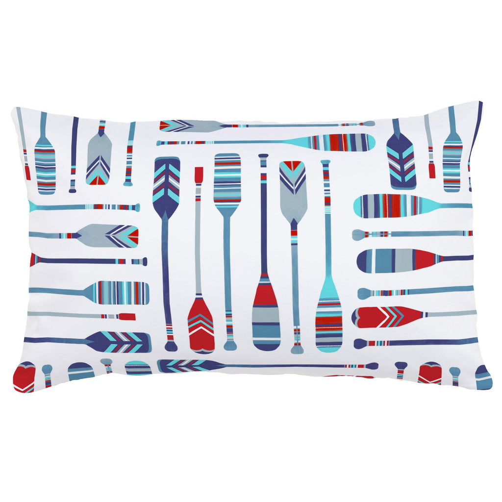 Product image for Red and Blue Oars Lumbar Pillow