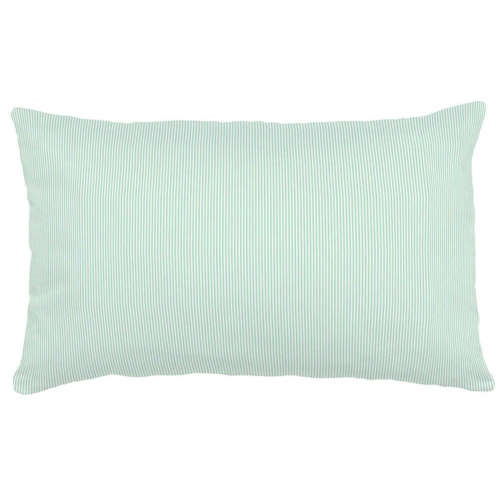 Product image for Mint Mini Stripe Lumbar Pillow
