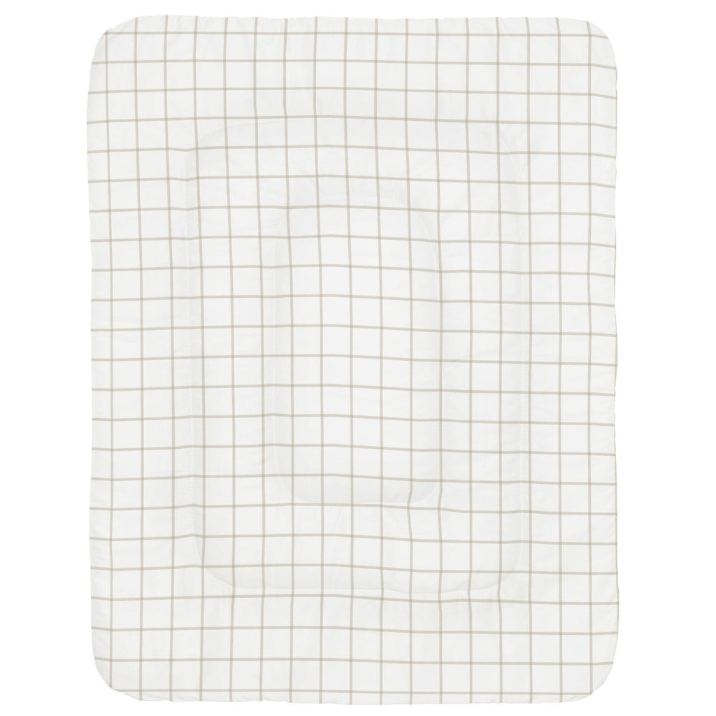 Product image for Taupe Windowpane Crib Comforter