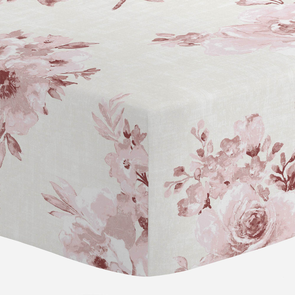 Product image for Rose Farmhouse Floral Crib Sheet