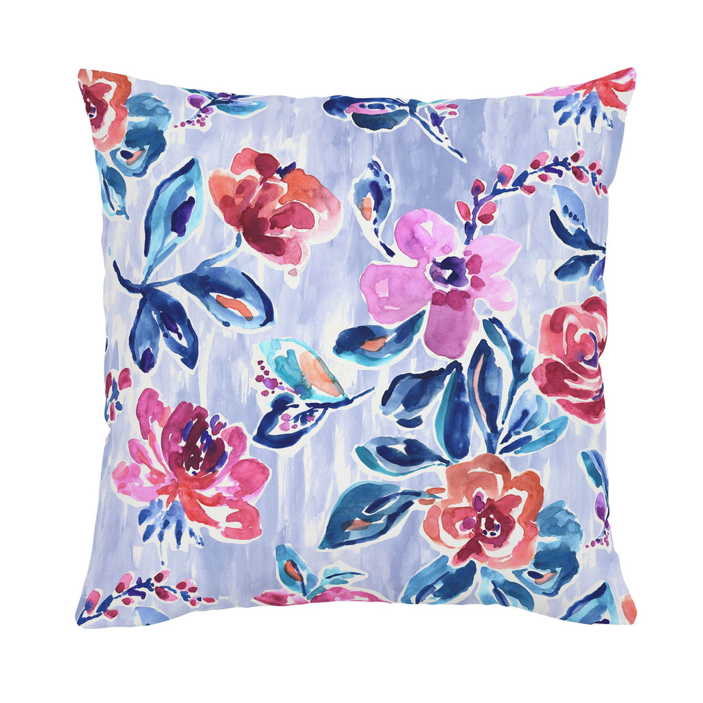 Product image for Pink and Lavender Garden Throw Pillow