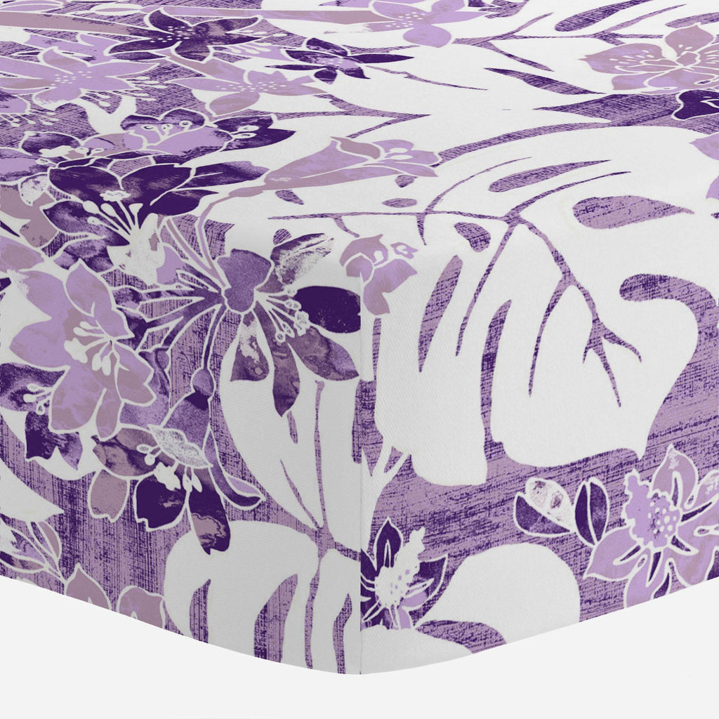 Product image for Purple Tropical Crib Sheet