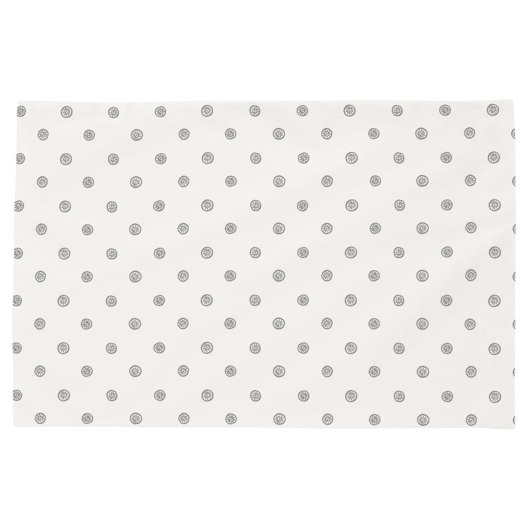 Product image for Cloud Gray Ditsy Dot Toddler Pillow Case