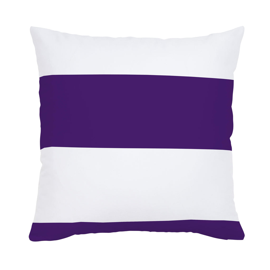 Product image for Purple Horizontal Stripe Throw Pillow