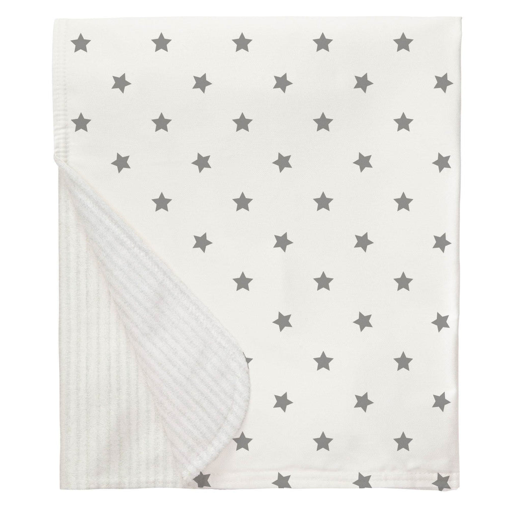 Product image for Cloud Gray Stars Baby Blanket