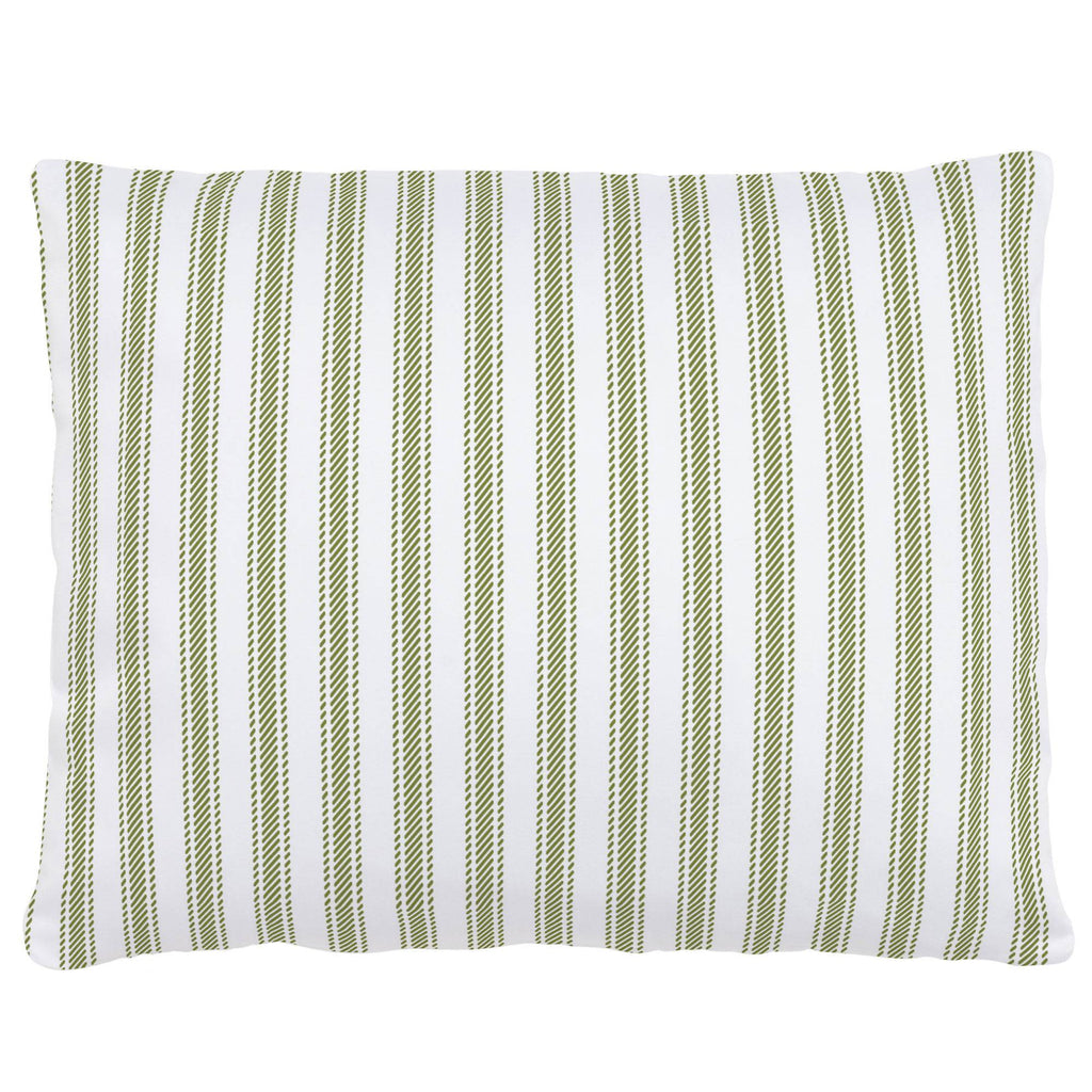 Product image for Sage Ticking Stripe Accent Pillow