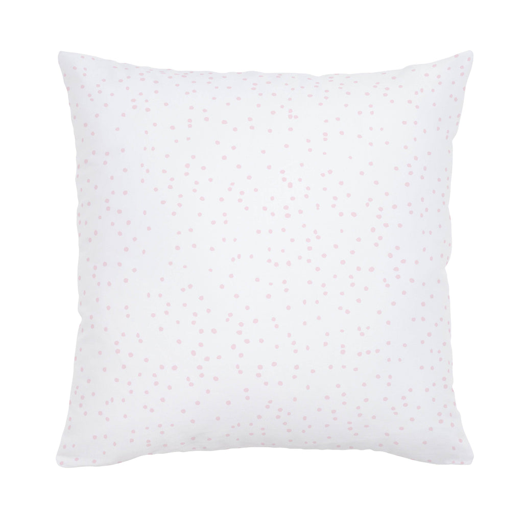 Product image for Pink Snowfall Throw Pillow