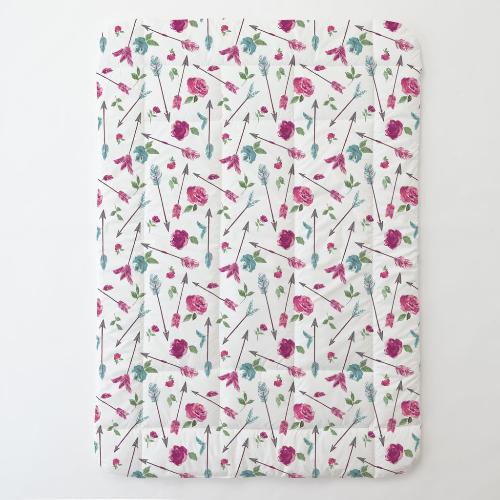 Product image for Floral Arrow Toddler Comforter