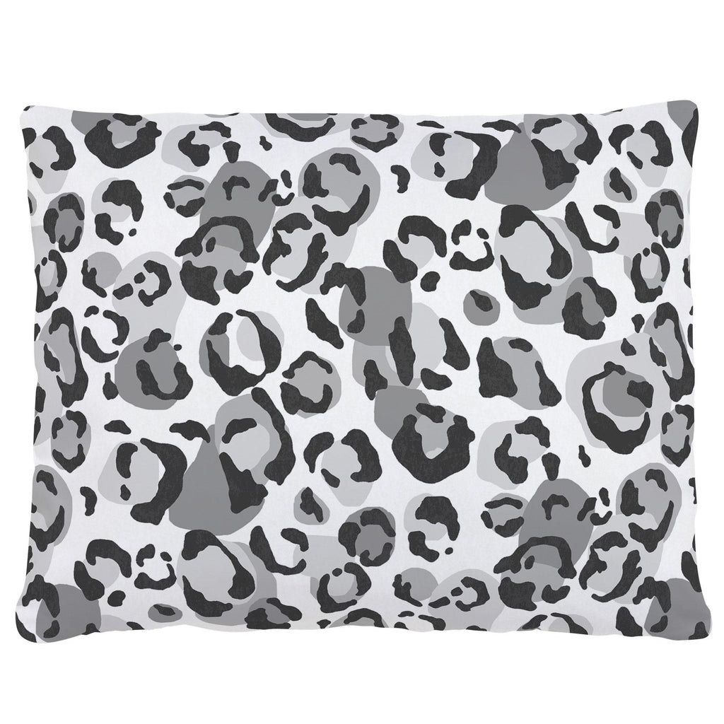 Product image for Gray Leopard Accent Pillow