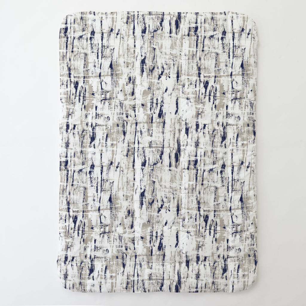 Product image for Navy and Taupe Birch Toddler Comforter