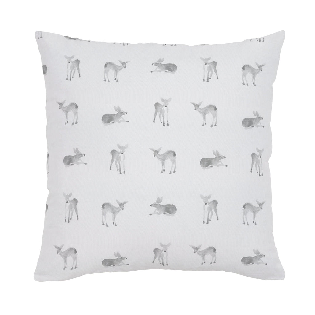 Product image for Silver Gray Fawns Throw Pillow