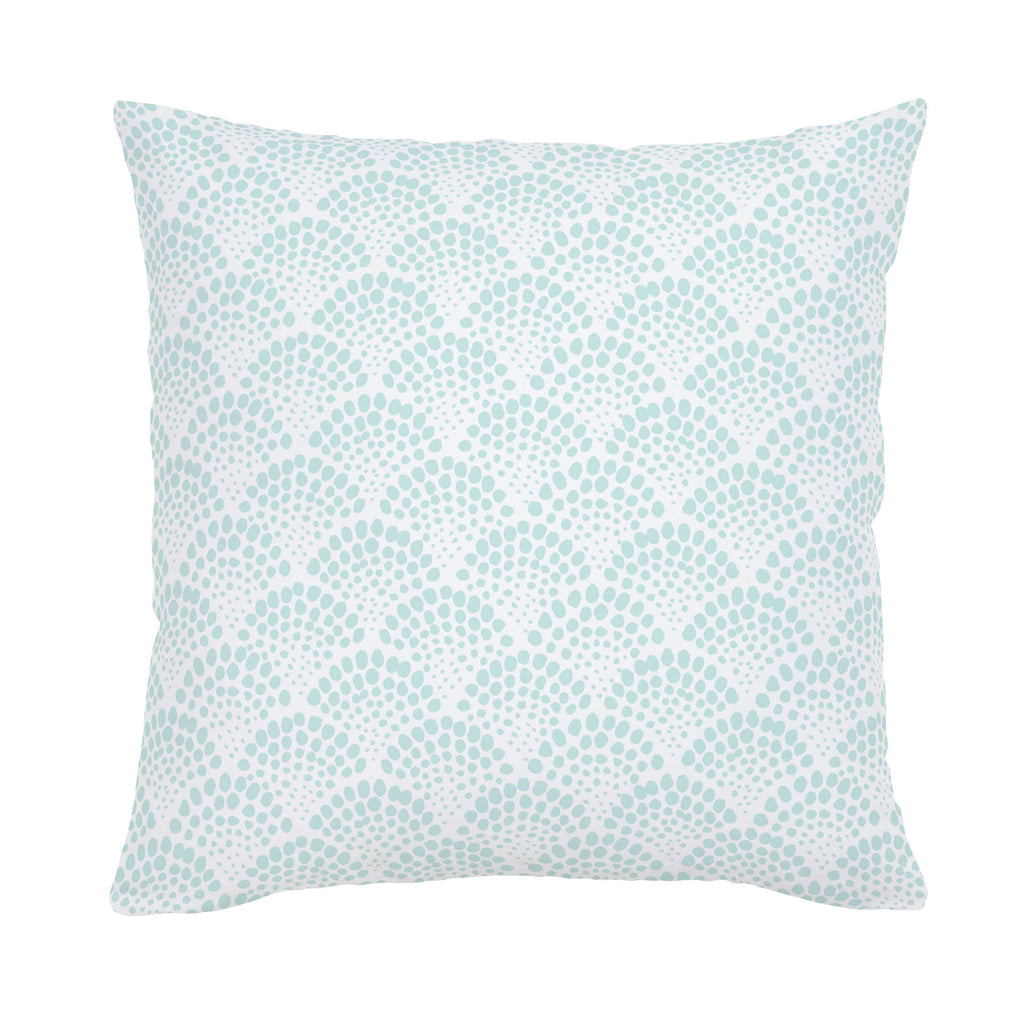 Product image for Icy Mint Scallop Dot Throw Pillow