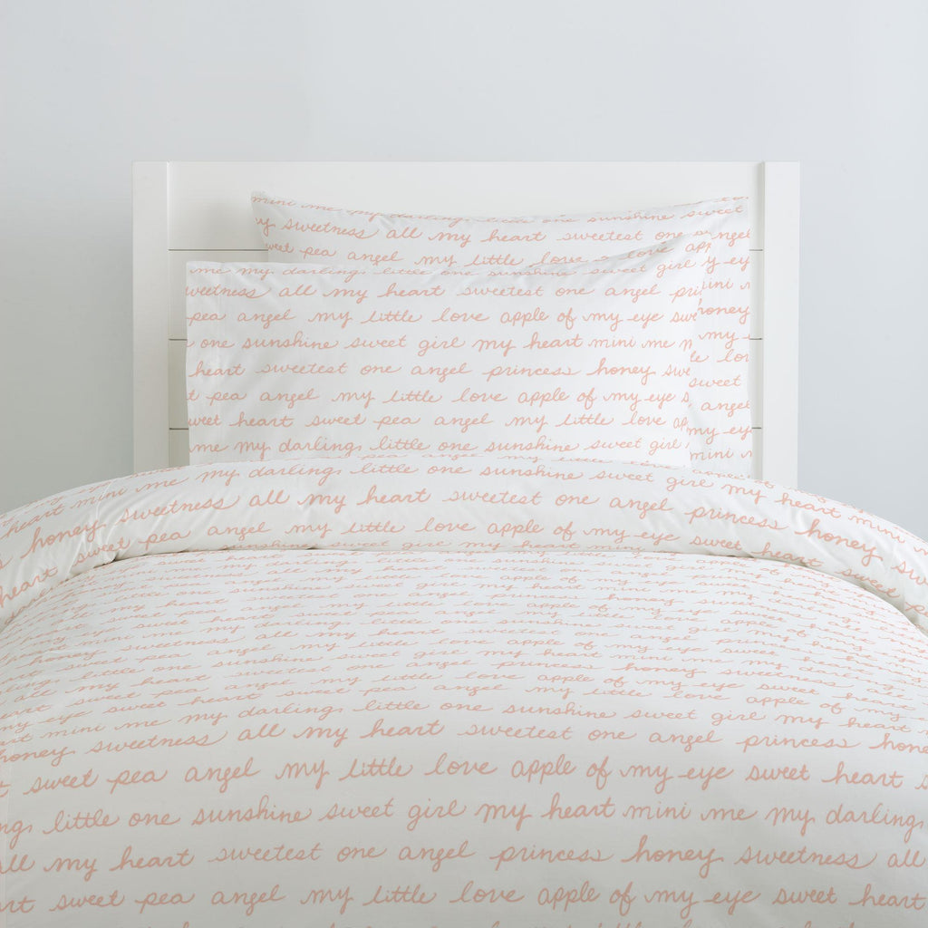 Product image for Peach Sweet Girl Duvet Cover