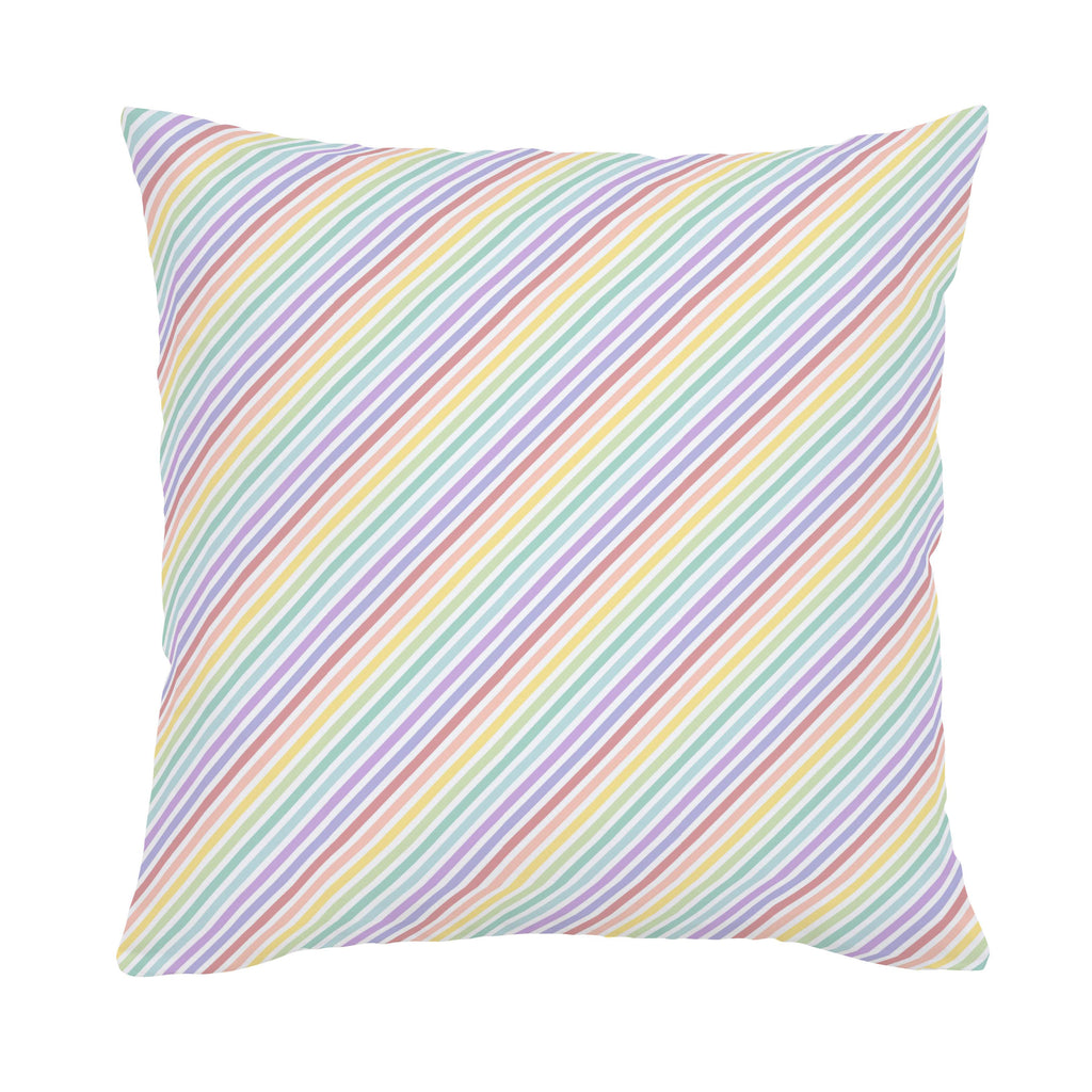 Product image for Pastel Rainbow Stripe Throw Pillow