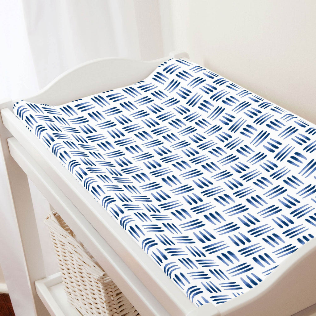 Product image for Blue Basket Changing Pad Cover