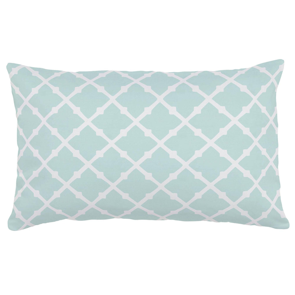 Product image for Icy Mint Lattice Lumbar Pillow