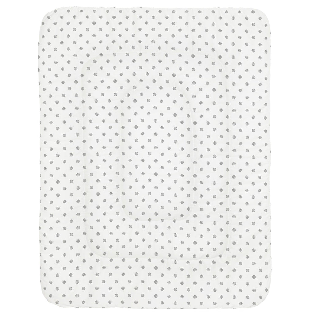 Product image for Cloud Gray Ditsy Dot Crib Comforter