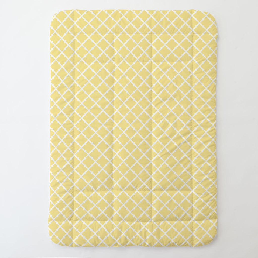 Product image for Banana Yellow Lattice Toddler Comforter