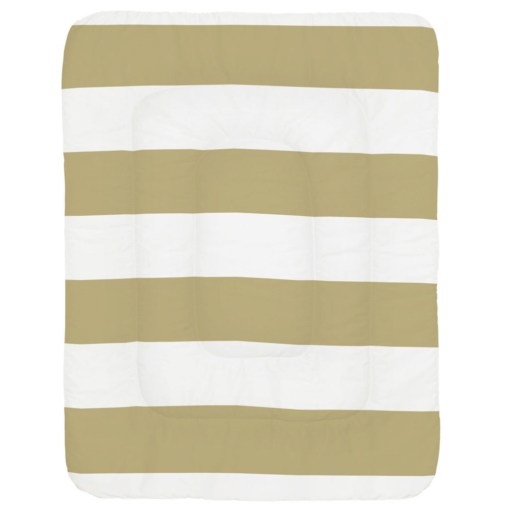 Product image for Tan Horizontal Stripe Crib Comforter