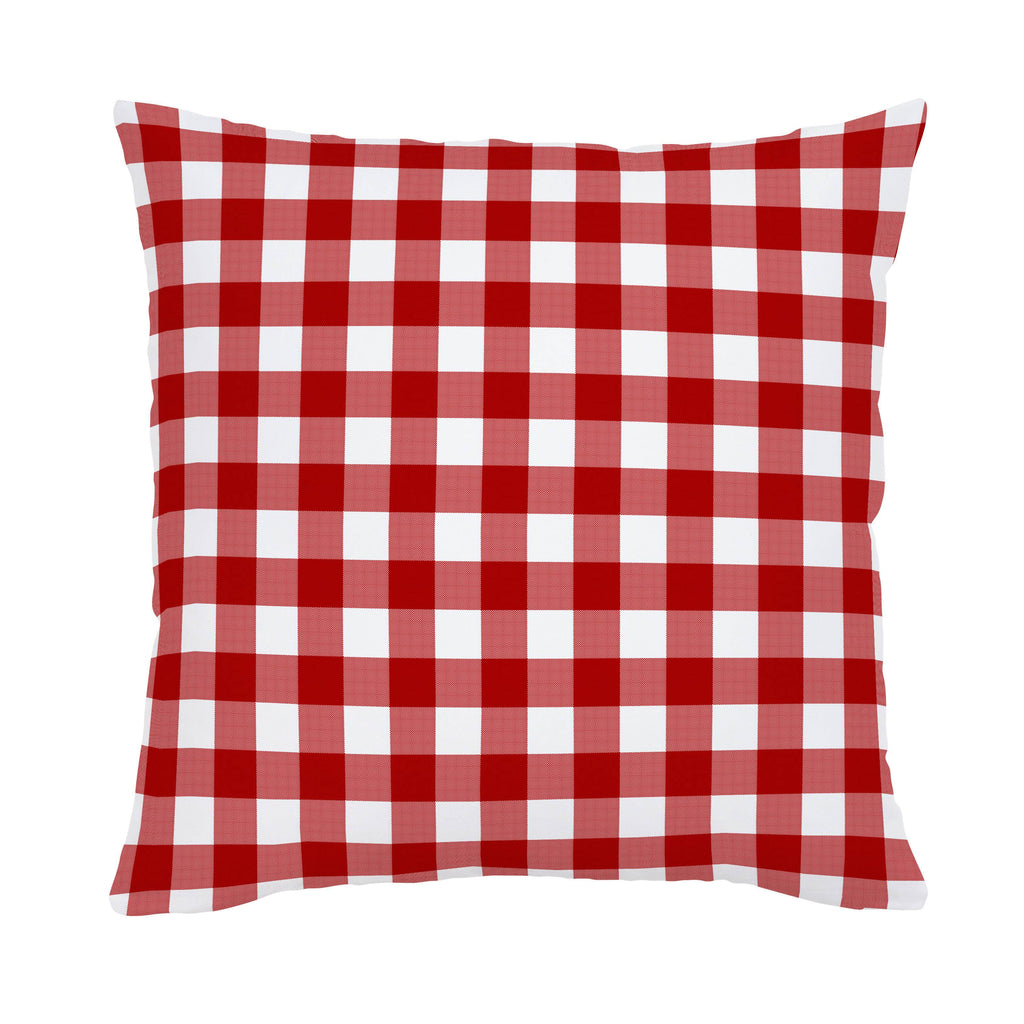 Product image for Red Gingham Throw Pillow