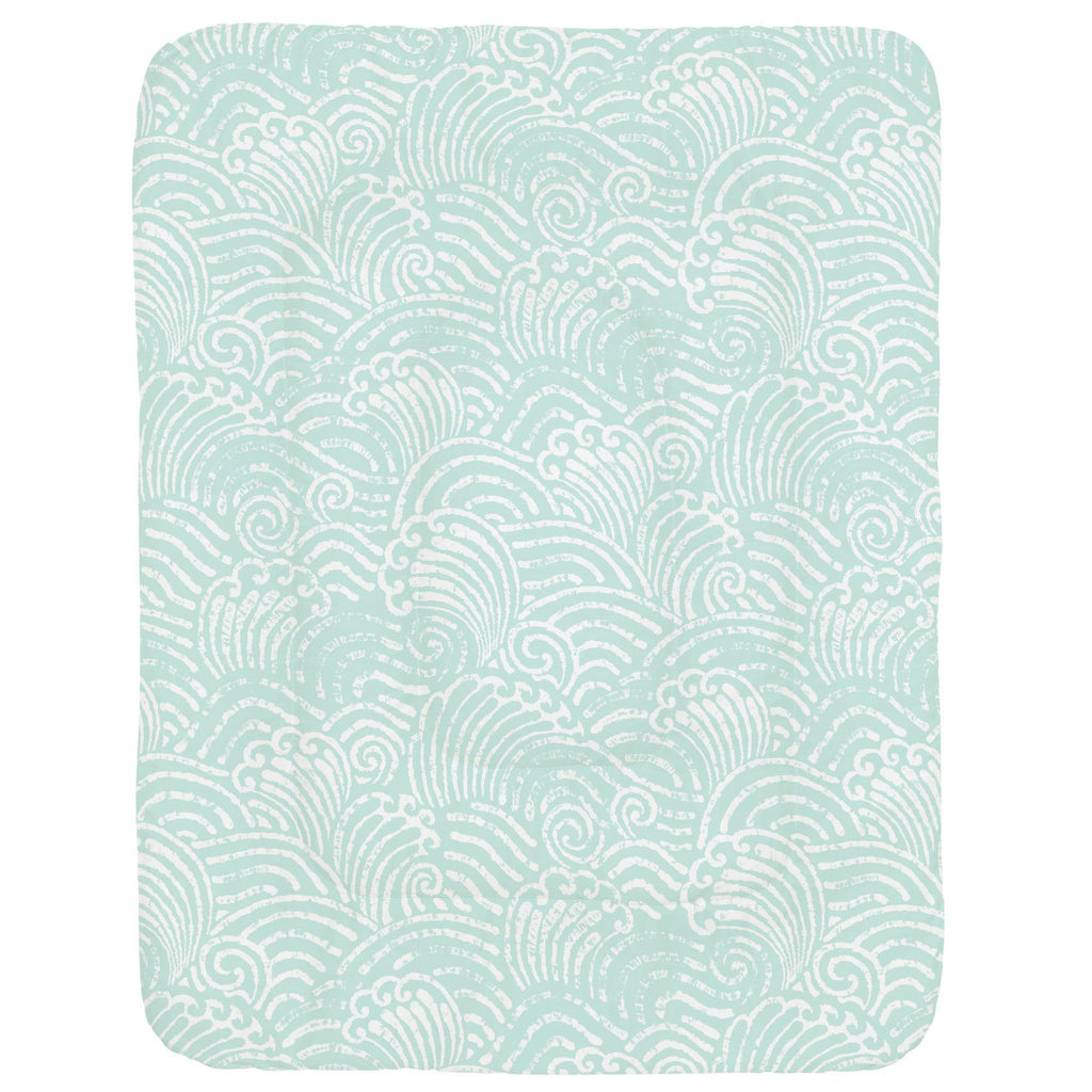 Product image for Icy Mint Seas Crib Comforter