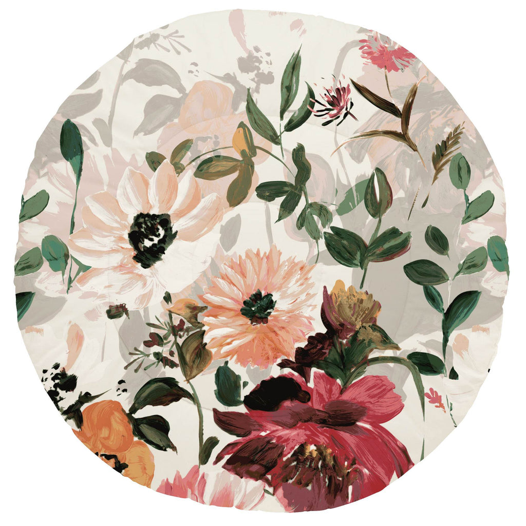 Product image for Moody Floral Centerpiece Baby Play Mat