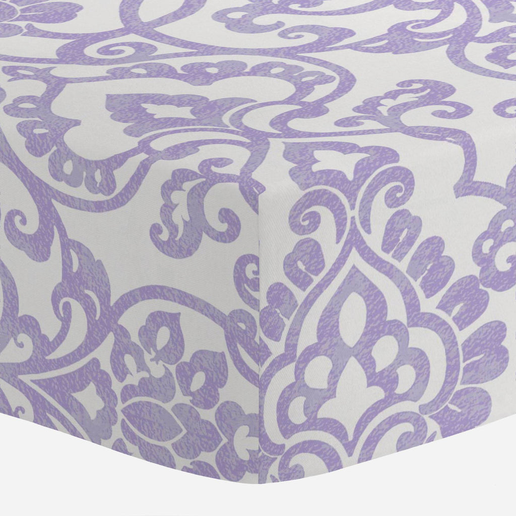 Product image for Lilac Filigree Crib Sheet
